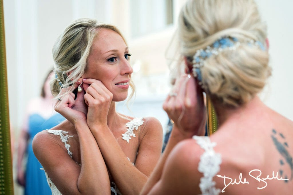 Bride getting ready at The Society Room of Hartford...
